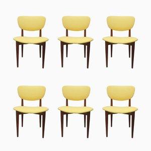 Esszimmerstühle aus Teak, 1950er, 6er Set