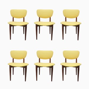 Teak Dining Chairs, 1950s, Set of 6