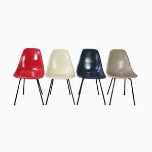 DSX Fiberglass Chairs by Charles & Ray Eames for Herman Miller, 1950s, Set of 4