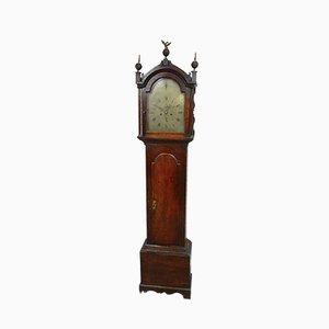 Reloj de caja alta antiguo de roble