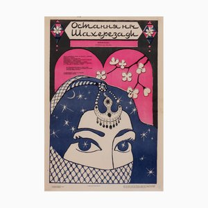 Sowjetisches Woman Scarf Filmposter, 1988