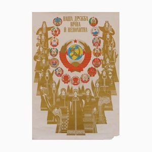 Mid-Century USSR Countries and Their People Poster