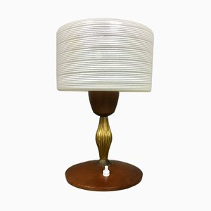 Teak & Brass Table Lamp from Philips, 1960s