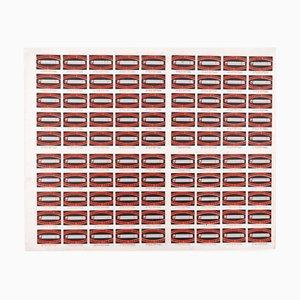 Stampa di 90 scatole di fiammiferi, Lettonia, anni '60