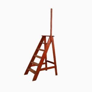 Scaletta antica in legno di pino
