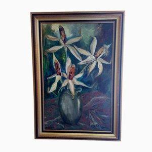 Peinture Bouquet de Maïs Vintage par Paul Rozier, 1958