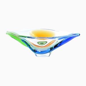 Rhapsody Schulter-Schale aus geformtem Glas von Frantisek Zemek für Mstisov Glasfabrik, 1960er