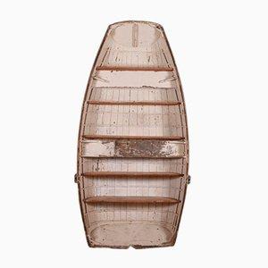 Antikes Bücherregal aus Holz in Boot-Optik