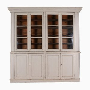 Antique Country House Painted Bookcase, 1840s