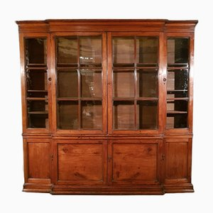 Antique English Fruitwood Bookcase, 1780s