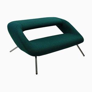 Mid-Century Italian Chrome Plated and Fabric Sofa, 1960s