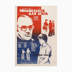 Poster cinematografico vintage, Unione Sovietica, 1982