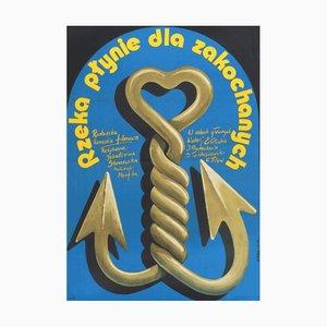 Poster vintage del film Paper, Polonia, 1986