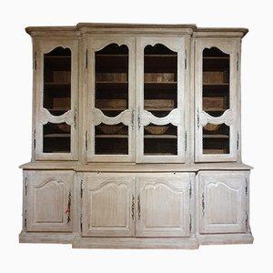 Großes antikes französisches Bücherregal aus Eiche, 1850er