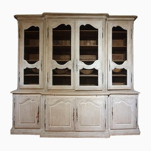 Large Antique French Oak Bookcase, 1850s
