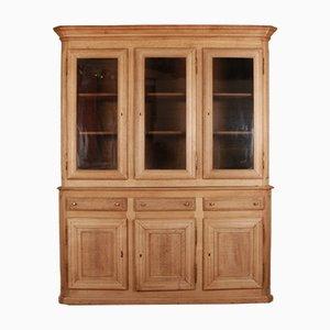 Large Antique French Oak Bookcase Cabinet, 1840s