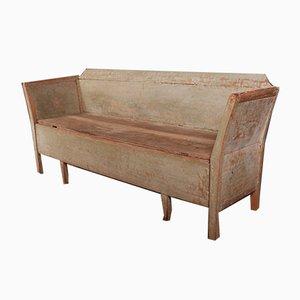 Sofá antiguo de madera, década de 1810