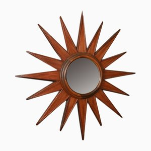 Vintage French Sunburst Mirror, 1920s