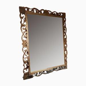 Antiker französischer Spiegel mit Rahmen aus Eichenholz