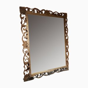 Antique French Oak Mirror