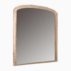 Antiker irischer Spiegel mit geschnitztem Rahmen