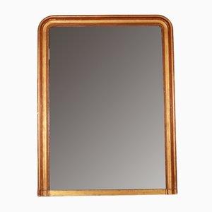 Antiker französischer Overmantle Spiegel