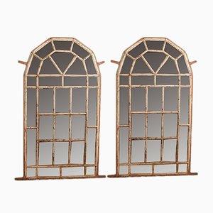 Miroirs Antiques en Métal, Set de 2