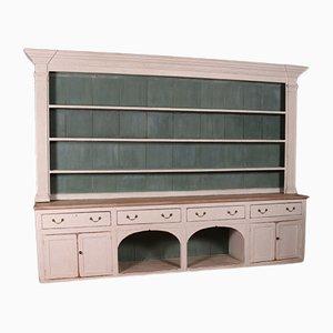 Large Antique Wooden Shelving Unit