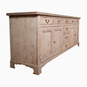 Antique Rustic Wooden Sideboard