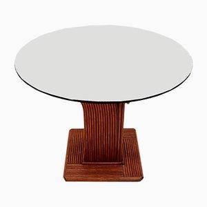 Tavolo da pranzo in cristallo e bambù di Vivai Sud, Italia, anni '60
