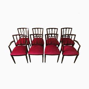 Esszimmerstühle aus Mahagoni im Regency Stil von Strongbow, 1970er, 8er Set