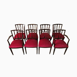 Regency Style Mahogany Dining Chairs from Strongbow, 1970s, Set of 8
