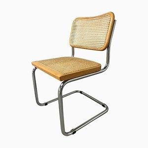 Verchromte italienische Esszimmerstühle aus Holz von Marcel Breuer, 1970er, 6er Set