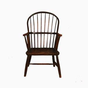 Antiker Windsor Armlehnstuhl aus Holz