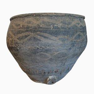 Antique Black Ceramic Vase