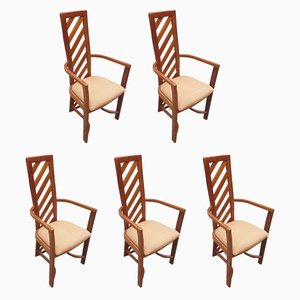 Vintage Teak Dining Chairs, 1970s, Set of 5