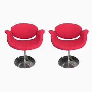 Little Tulip Swivel Chairs by Pierre Paulin for Artifort, 1990s, Set of 2