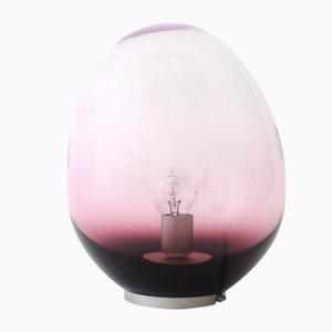 Lámpara de mesa Astrea morada iridiscente S de Simone Lueling para ELOA