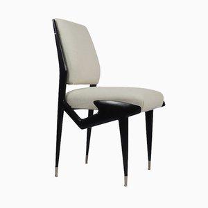 Italian Ebonized Wood Side Chairs by Ico & Luisa Parisi, 1950s, Set of 2