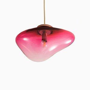 Lampada da tavolo Planetoide Eros S rosso rubino di Simone Lueling per ELOA