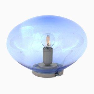 Lámpara de mesa Vesta S con forma de asteroide en azul acero de Simone Lueling para ELOA