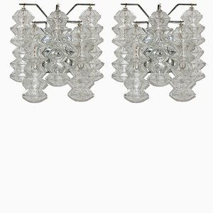 Pagoda Glass Sconces from Kalmar, 1960s, Set of 2
