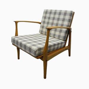 Deutscher Mid-Century Sessel aus Kirschholz