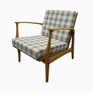 Mid-Century German Cherry Lounge Chair