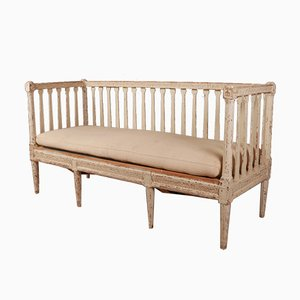 Antique Swedish Painted Pine Sofa