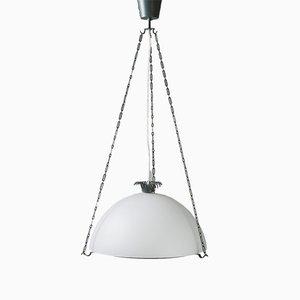 Lampada da soffitto modernista in acciaio di Gunnar Asplund, anni '30