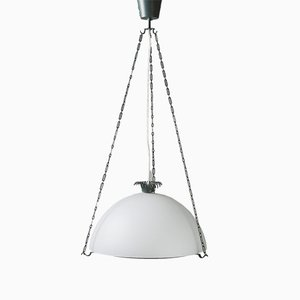Modernist Steel Ceiling Lamp by Gunnar Asplund, 1930s
