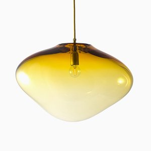 Planetoide Seresi Gold S Pendant Lamp by Simone Lueling for ELOA