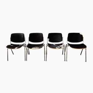 Italian DSC Stacking Chairs by Giancarlo Piretti for Castelli, 1960s, Set of 4