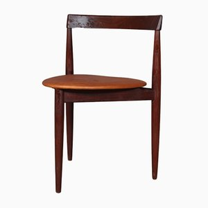 Danish Teak & Leather Roundette Dining Chair by Hans Olsen for Frem Røjle, 1960s